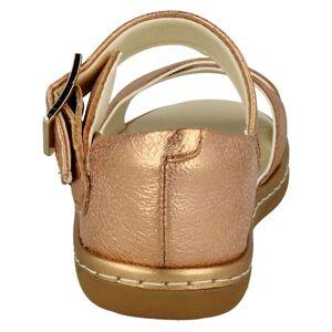 Clarks (UK 9.5 Child, Bronze (Gold)) Girls Clarks Cross Detailed Sandals Skylark Pure T