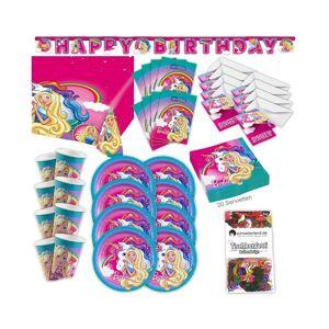 AMSCAN Girl Dreamtopia Original Party Set XL 63 pieces for 8 guests Barbie Party deco P