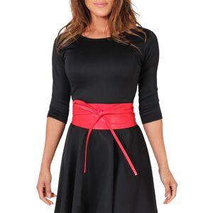 KRISP (Red) Tie Round PU Leather Waist Cinch Belt