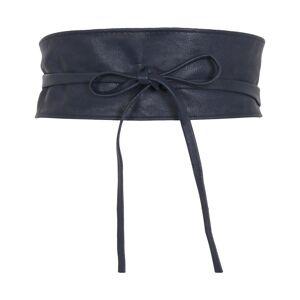 KRISP (Navy) Tie Round PU Leather Waist Cinch Belt