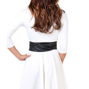 KRISP  Womens Soft PU Faux Leather Self Tie Wrap Around Obi Waist Band Cinch Boh