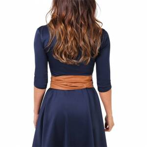 KRISP (Tan) Tie Round PU Leather Waist Cinch Belt