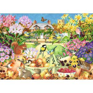 Jumbo 11222 Falcon de Luxe-Autumn Garden 1000 Piece Jigsaw Puzzle, Multi-Colour