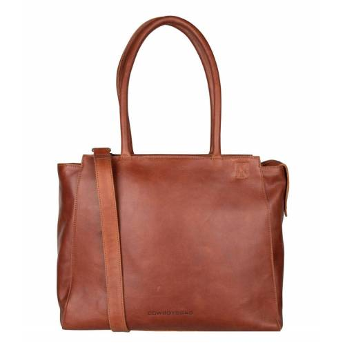 Cowboysbag - Laptoptassen - Laptop Bag Evi 15.6 inch - Cognac