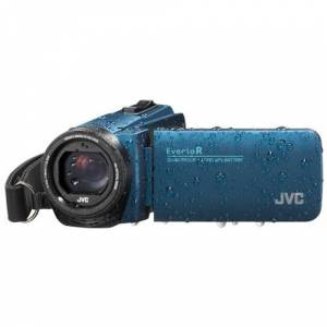 JVC GZ-R495A-KIT Quadproof Camcorder blauw incl. tas en SD kaart