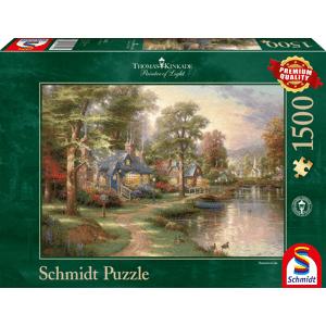 Schmidt Bij het meer (Thomas Kinkade) - Puzzel (1500)