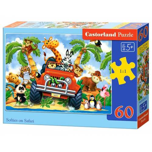 Castorland Softies on Safari - Puzzel (60)