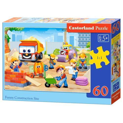 Castorland Funny Construction Site - Puzzel (60)