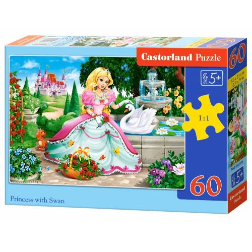 Castorland Princess with Swan - Puzzel (60)