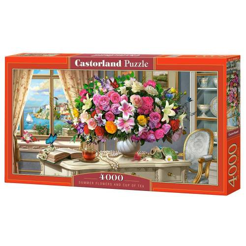 Castorland Summer Flowers and Cup of Tea - Puzzel (4000)