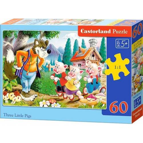 Castorland Three Little Pigs - Puzzel (60)