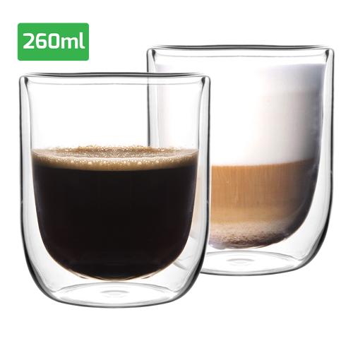 Overige Set luxe dubbelwandige glazen (260 ml)