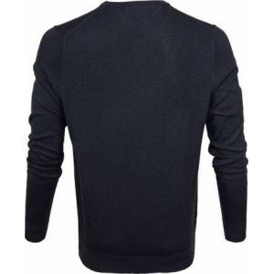Tommy Hilfiger Pullover V-Hals Navy  - Blauw - Size: Extra Large