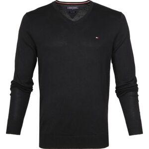 Tommy Hilfiger Pullover V-Hals Zwart  - Zwart - Size: Extra Large