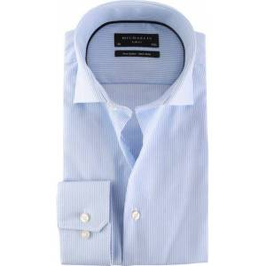 Michaelis Overhemd Skinny Blue Stripe  - Blauw - Size: 44