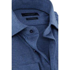 Profuomo Knitted Jersey Overhemd Blauw  - Blauw - Size: 37