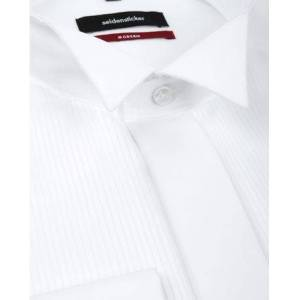 Seidensticker Smoking Shirt Plisse MF  - Wit - Size: 43