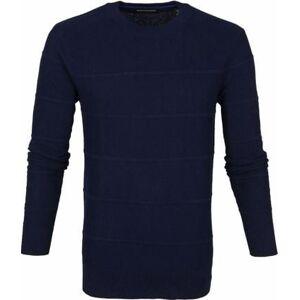 Scotch and Soda Sweater Donkerblauw Strepen  - Blauw - Size: Extra Large