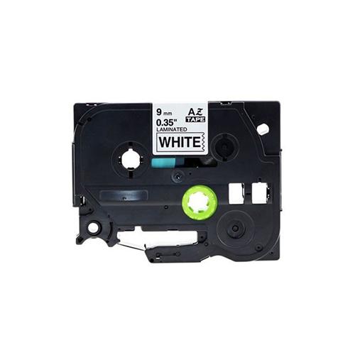 Merkloos Brother Alternatief Label Tape Zwart op Wit 9mm TZ-221