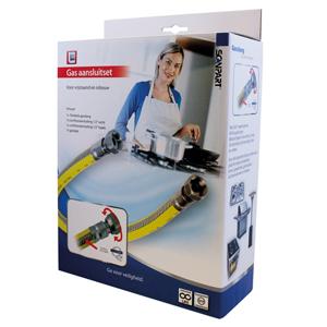 Scanpart Gasslang Aansluitset 75cm Rvs Flexibel PVC