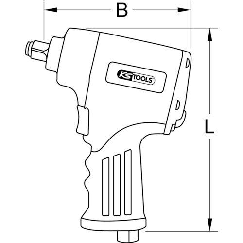 """KS Tools 515.3855 3/8"""" miniMONSTER Xtremelight 1.390 Nm persluchtslagmoersleutel"""