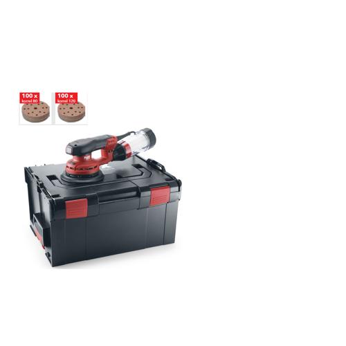 Flex-tools ORE 5-150 EC Set Sterke excentrische schuurmachine 150 mm + 200 schuurschijven