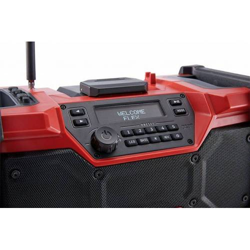 Flex-tools RD 10.8/18.0/230 Digitale accu-bouwplaatsradio 10,8 / 18,0 V DAB+ en Bluetooth excl. accu's en lader