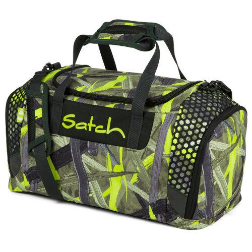 satch Duffle Bag sporttas 44 cm grün graue streifen jungle lazer