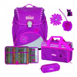 Scout Alpha Schooltas set 4-pc. pretty pink