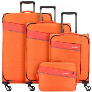 Travelite Kite Koffer 4 wielen set 4pc. orange
