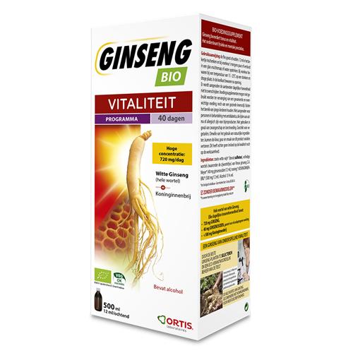 Ortis Ginseng Bio Vitaliteit