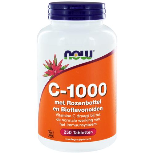 NOW C-1000 Rozenbottel & Bioflavonoïden Tabletten
