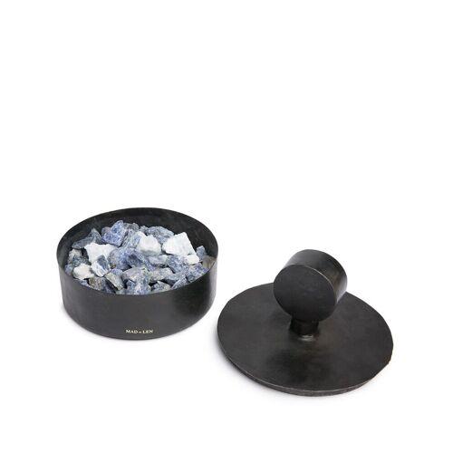 Mad Et Len Potpourri van kristallen in ijzeren houder - Zwart