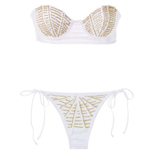 Amir Slama Bandeau bikini - Wit