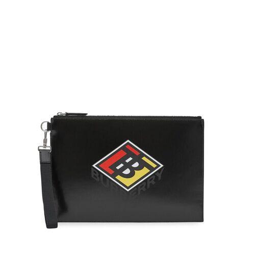 Burberry Buidel met logo - Zwart