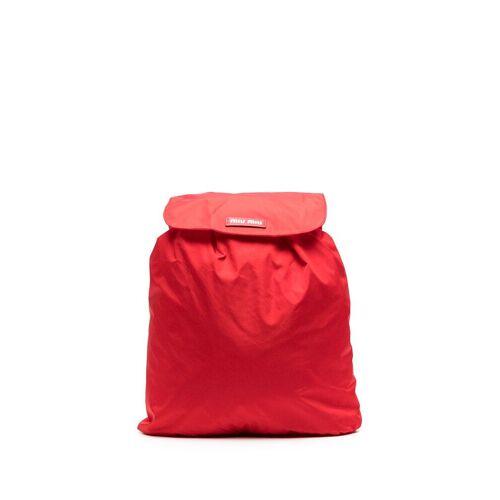 Miu Miu Rugzak met omslag - Rood