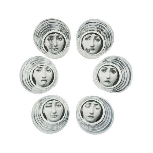 Fornasetti Set van zes T&V; brillen - TRANSPARENT