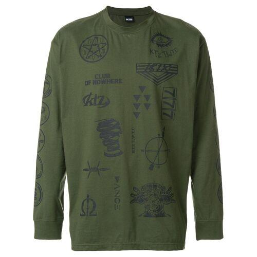 KTZ sweater met meerdere stempels - Groen