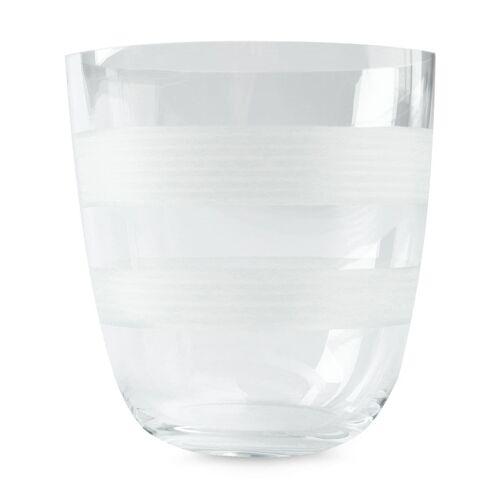 Carlo Moretti glas met strepen - Wit