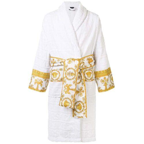 Versace Badjas met barok afwerking - Wit