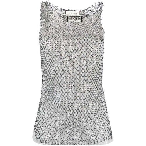 Gucci Tanktop met juwelen - Zilver