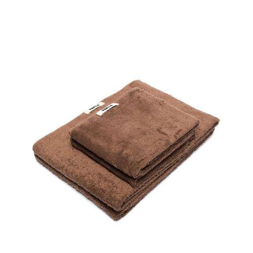 TEKLA Set van 2 badhanddoeken - Bruin