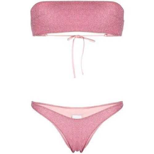 BIKINI LOVERS Metallic bikini - Roze