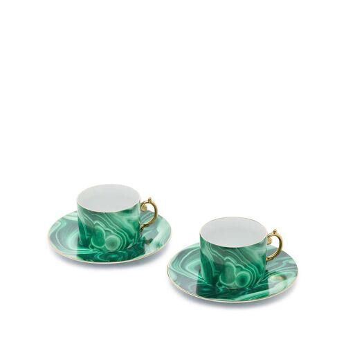 L'Objet Set van twee kop en schotels - Groen