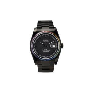 MAD Paris Customised pre-owned Rolex Datejust horloge - BLACK / MULTICOLOUR