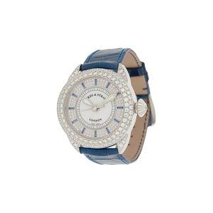 Backes & Strauss Piccadilly Blue Velvet horloge - Wit