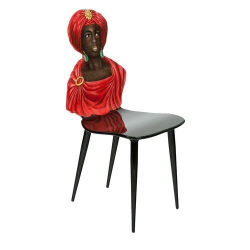 Fornasetti Gebeeldhouwde stoel - Rood