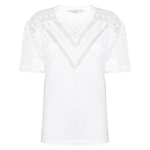 Stella McCartney T-shirt met kanten inzetstukken - Wit