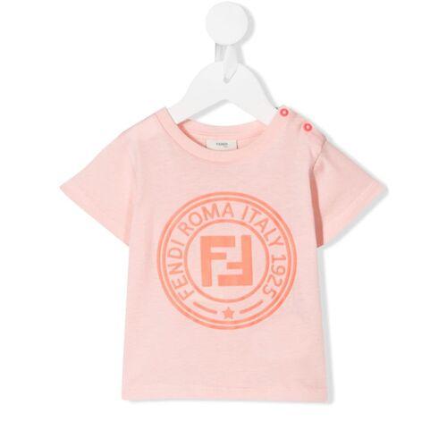 Fendi Kids T-shirt met logo stempel - Roze