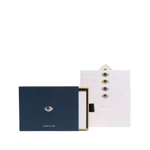 L'Objet Set met briefpapier en enveloppen - Blauw